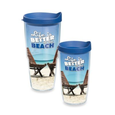 "Tervis® ""Life is Better at the Beach"" 16-Ounce Wrap Tumbler with Lid"