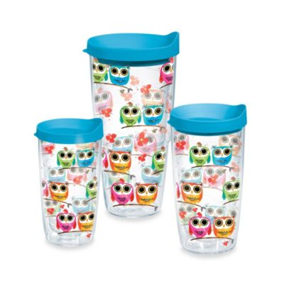Owls 16-Ounce Wrap Tumbler with Lid