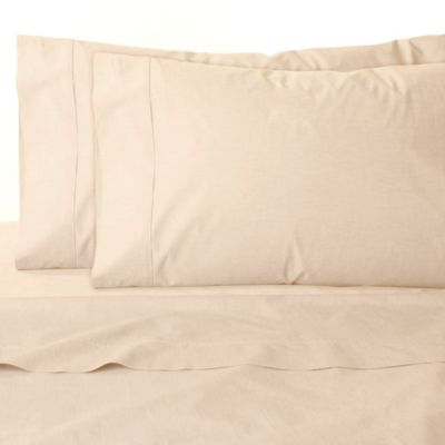 Chambray Queen Sheet Set in Sand