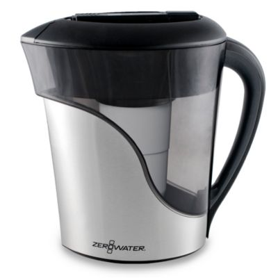 ZeroWater® 8-Cup Stainless Steel Pitcher with TDS Meter