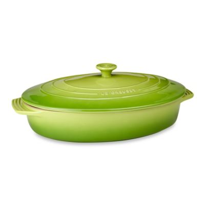 Le Creuset® 3-3/4-Quart Covered Oval Casserole in Palm