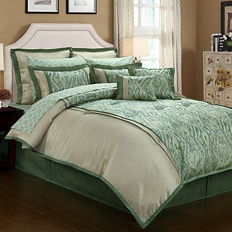 Bird Comforter White With Green Border Home Design And