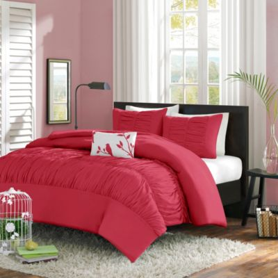 Mizone Mirimar Full/Queen Comforter Set in Pink