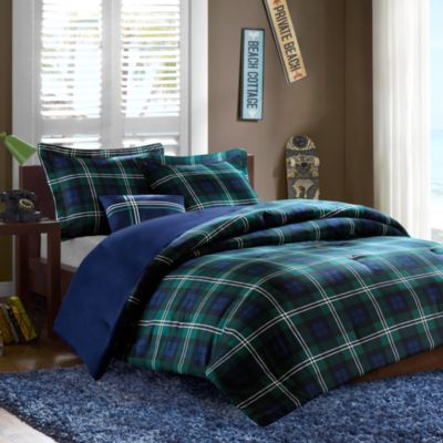Brody 4-Piece Full/Queen Comforter Set in Blue