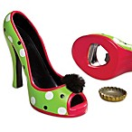 High Heel Bottle Opener with Polka Dots