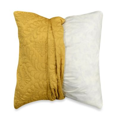 MYOP Pucker Quilt 20-Inch Square Toss Pillow Cover in Sunflower