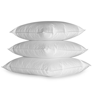Ogallala Double-Shell Firm Standard Pillow in Pearl White