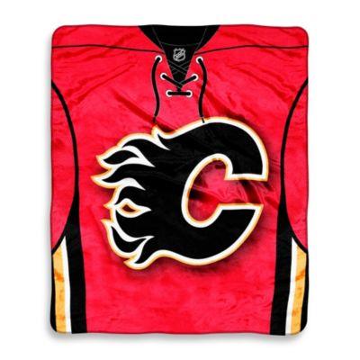 NHL Calgary Flames Super-Plush Raschel Throw Blanket
