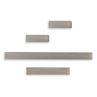 Melannco® Floating Shelves in Grey (Set of 4)