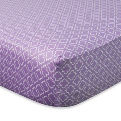 Carter's® Mix & Match Diamond Fitted Crib Sheet in Purple