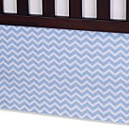 Carter's® Crib Bed Skirt in Blue Zig Zag
