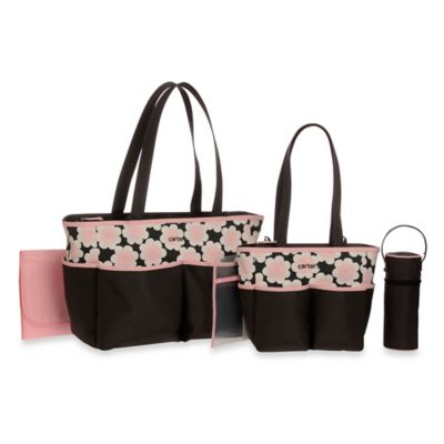 Carters Floral Print 5-Piece Diaper Bag Set