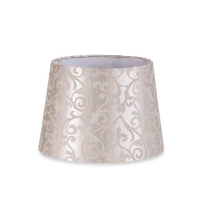 Mix & Match Small 10-Inch Print Hardback Drum Lamp Shade in Silver