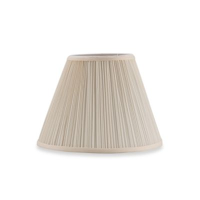 Mix & Match Small 12-Inch Pleated Empire Lamp Shade in Ivory/Mushroom