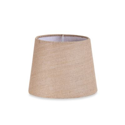 Mix & Match Small 9-Inch Natural Burlap Hardback Drum Lamp Shade in Tan