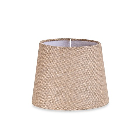 buy mix match small 9 inch natural burlap hardback drum. Black Bedroom Furniture Sets. Home Design Ideas
