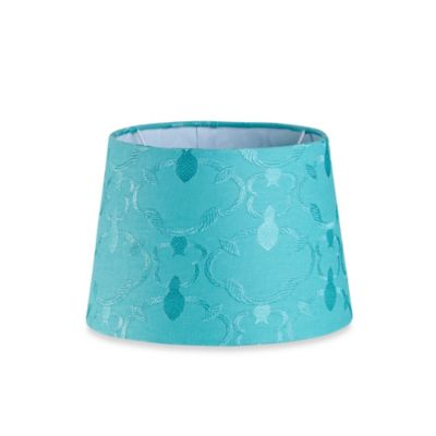 Teal Fabric Shades