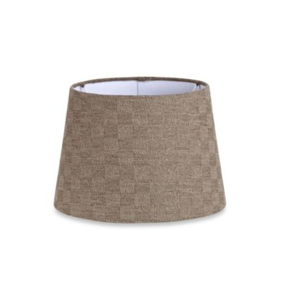 match small 10 inch checkerboard hardback drum lamp shade in brown. Black Bedroom Furniture Sets. Home Design Ideas
