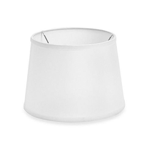 mix match small 10 inch drum lamp shade in white bed. Black Bedroom Furniture Sets. Home Design Ideas