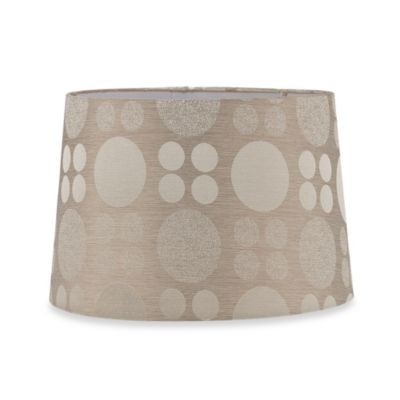 Mix & Match Medium 15-Inch Hardback Drum Lamp Shade in Light Brown Bubble Print