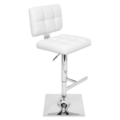 LumiSource Glamour Barstool in White