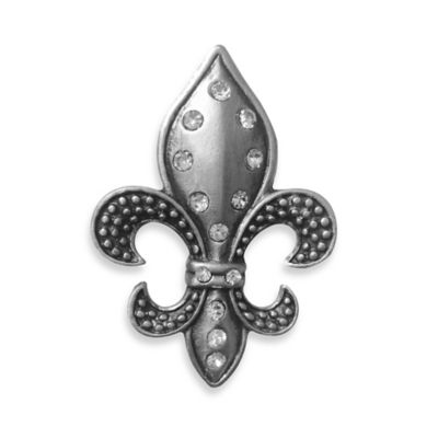 All for Giving Pewter Fleur de Lis Candle Pin