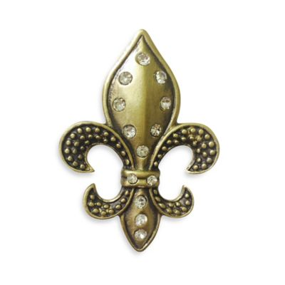 All for Giving Antique Brass Fleur de Lis Candle Pin