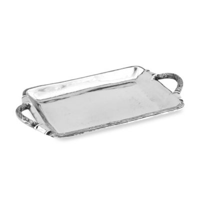 Star Home Arcadian Rope-Handled Rectangular Tray