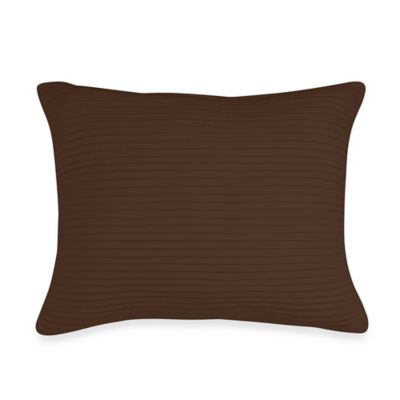 Wamsutta® Baratta Stitch Oblong Toss Pillow in Chocolate