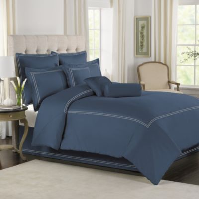 Wamsutta® Baratta Stitch Twin Mini Comforter Set in Blue Jean