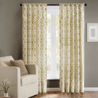 Delray Diamond 42-Inch x 84-Inch Window Curtain Panel in Tan