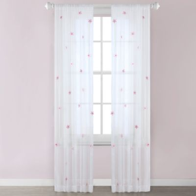 Flowers Sheer Window Panels