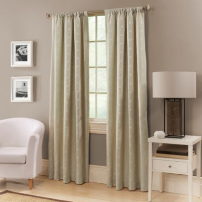 Avalon 63-Inch Window Curtain Panel in Coffee