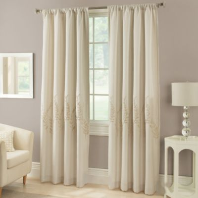 Laurel 63-Inch Window Curtain Panel in Mocha