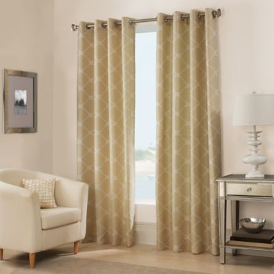 West Bay 95-Inch Grommet Window Curtain Panel in Pebble
