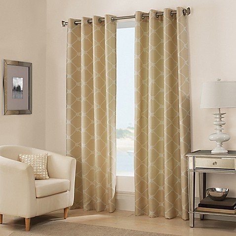 West Bay Grommet Window Curtain Panel Bedbathandbeyond Com