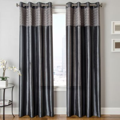 Buy Grey Curtain Panels From Bed Bath Beyond