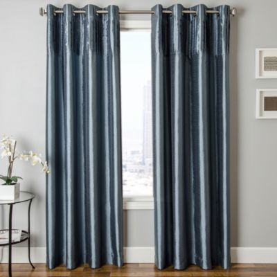 Softline Cena 84-Inch Window Curtain Panel in Chocolate
