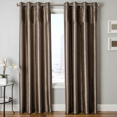 Softline Cena 84-Inch Window Curtain Panel in Latte