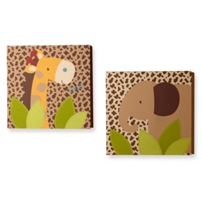 NoJo® Kulala 2-Piece Canvas Wall Décor