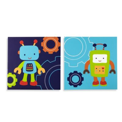 NoJo® Baby Bots Wall Art (Set of 2)