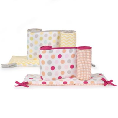 Baby Bedding Accessories > Carter's® Neutral and Girls Dots Crib Bumper