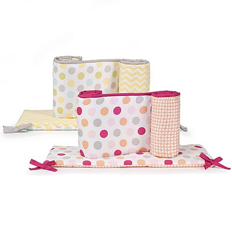 Bumpers > Carter's® Neutral and Girls Dots Crib Bumper
