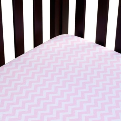 Carter's® Mix & Match Zigzag Fitted Crib Sheet in Pink