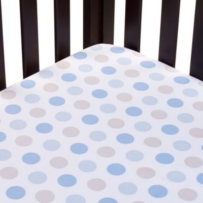 Carter's® Mix & Match Dots Fitted Crib Sheet in Blue
