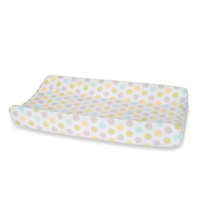 Carter's® Mix & Match Dots Velour Changing Pad Cover in Neutral