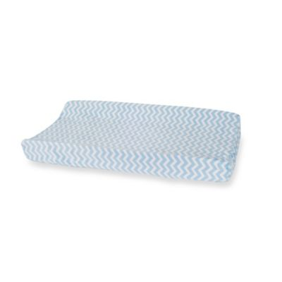 Carter's® Mix & Match Zigzag Velour Changing Pad Cover in Blue