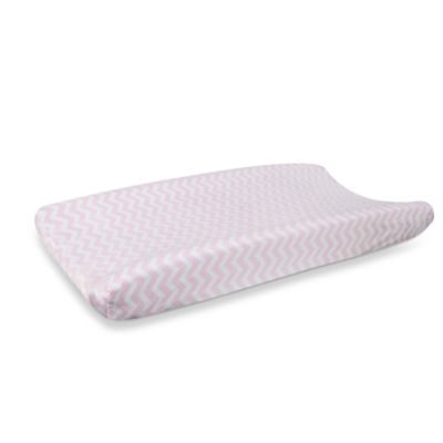 Carter's® Mix & Match Zigzag Velour Changing Pad Cover in Pink