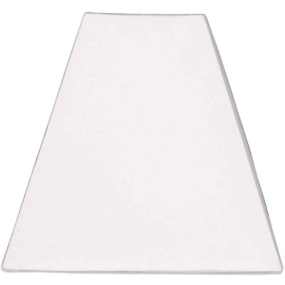 Mix & Match Medium 13-Inch Hardback Linen Square Lamp Shade in White