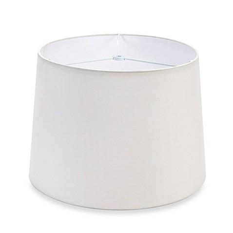 inch hardback linen drum lamp shade in white. Black Bedroom Furniture Sets. Home Design Ideas